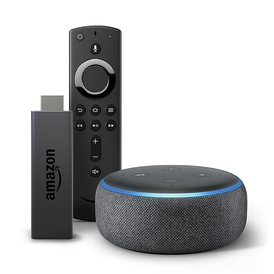 Amazon Echo Dot Generation 3 + Fire TV Stick in Black