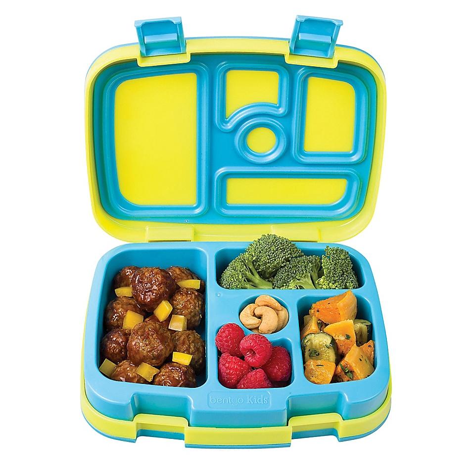Bentgo Kids Brights 5-Compartment Bento Lunch Box, Citrus Yellow