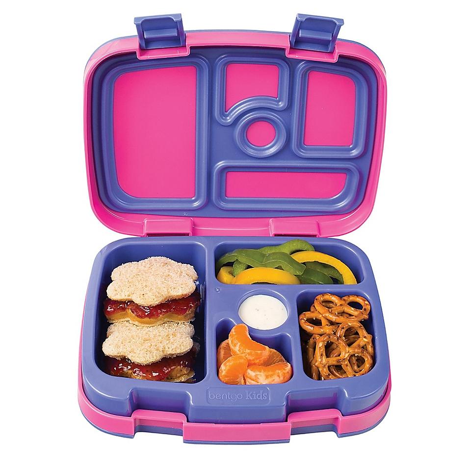 Bentgo Kids Brights 5-Compartment Bento Lunch Box, Fuscia