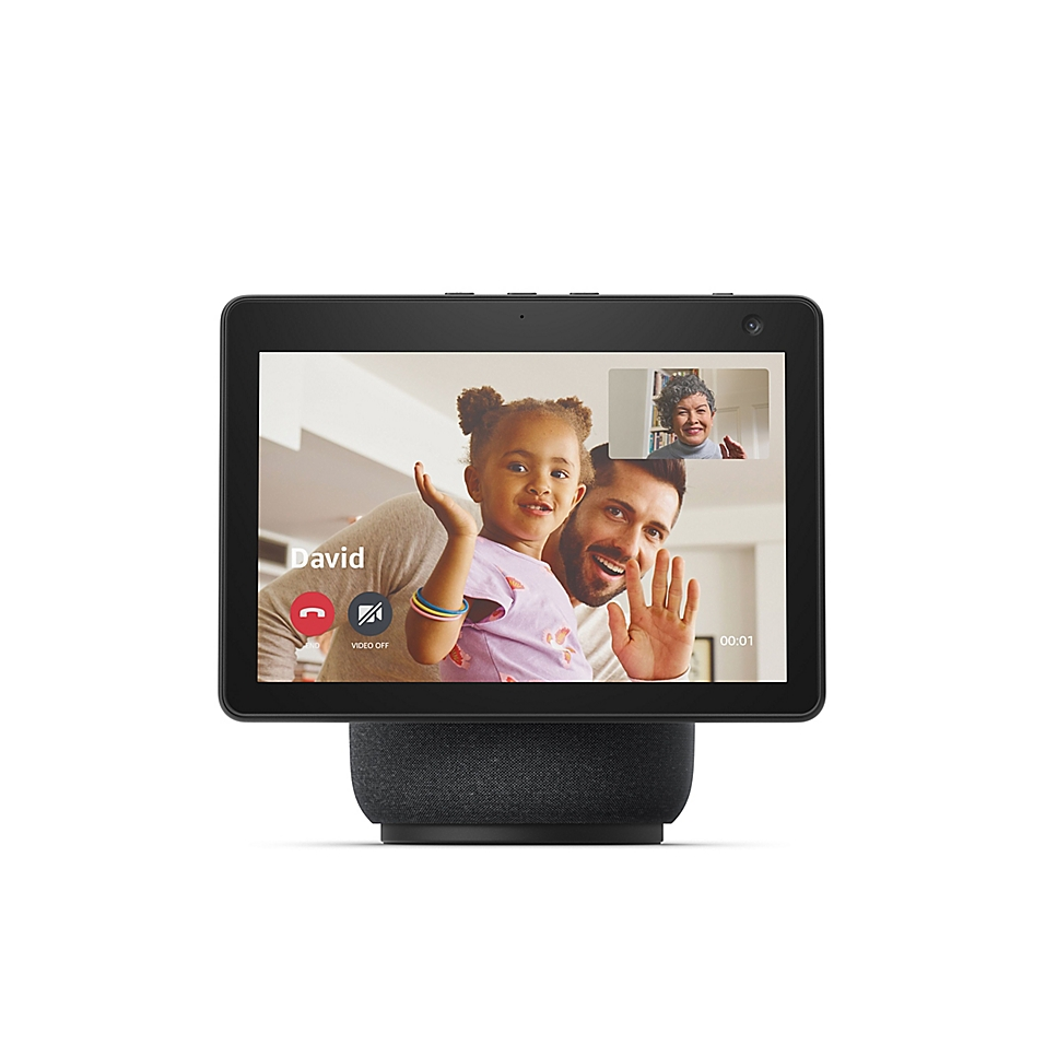 Amazon Echo Show 10 (3rd Gen) HD Smart Display with Motion and Alexa in Charcoal, Grey
