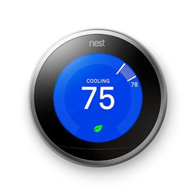 Google Nest Learning Third Generation Thermostat in Silver