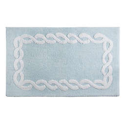 Wamsutta® Margate 20-Inch x 32-Inch Bath Rug in Illusion Blue