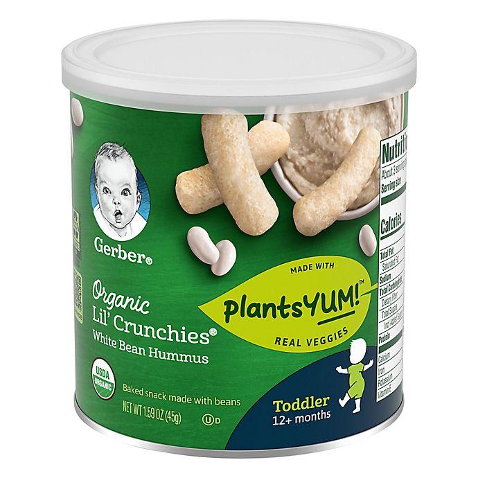 Alternate image 1 for Gerbers® Organic Lil' Crunchies® 1.59 oz. White Bean Hummus