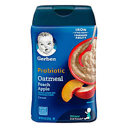 Gerber® 8 oz. Probiotic Oatmeal with Peach and Apple Cereal