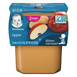 Gerber&reg; 2nd Foods&reg; 2-Pack 4 oz. Apple Baby Food<br />