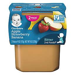 Gerber® 2nd Foods 2-Pack 4 oz. Apple Strawberry Banana Baby Food