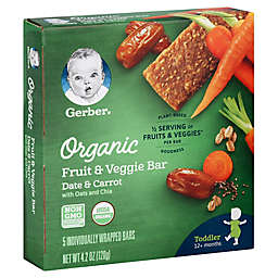 Gerber® 5-Count Organic Date & Carrot with Oats and Chia Fuit & Veggie Bars