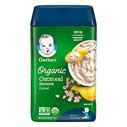 Gerber® 8 oz. Organic Oatmeal Banana Baby Cereal