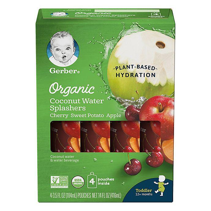 Alternate image 1 for Gerber® 4-Pack 3.5 oz. Organic Coconut Water Splashers<br />