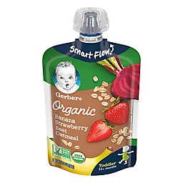 Gerber® Organic 3.5 oz. Banana Strawberry Beet Oatmeal Pouch