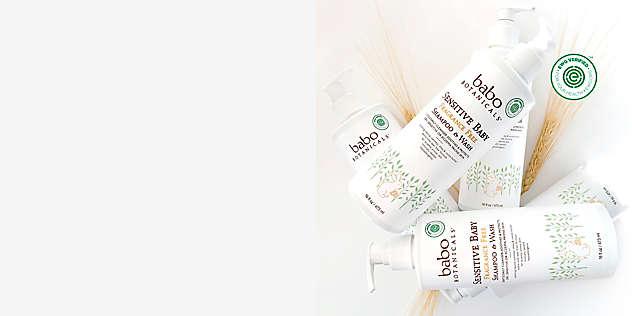 Babo Botanicals® Sensitive Baby Shampoo And Wash