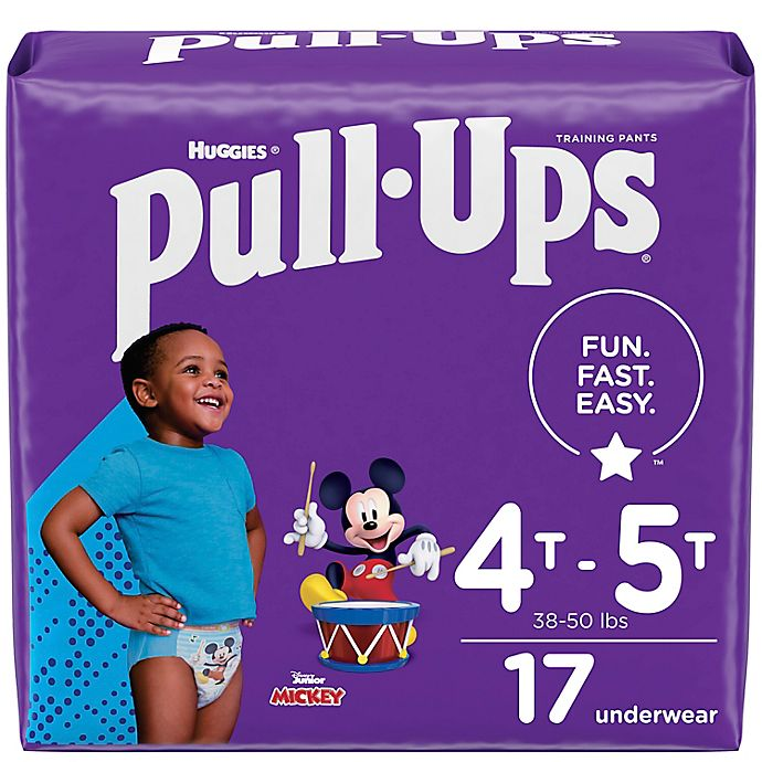 Alternate image 1 for Huggies® Size 4T-5T 17-Count Boys' Mickey Mouse Disposable Pull-Ups Training Pants