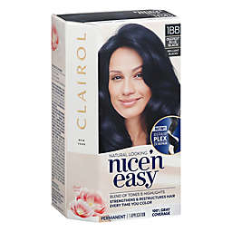 Clairol Nice N Easy Deepest Blue Black 1 BB Permanent Hair Color with Floral Scent
