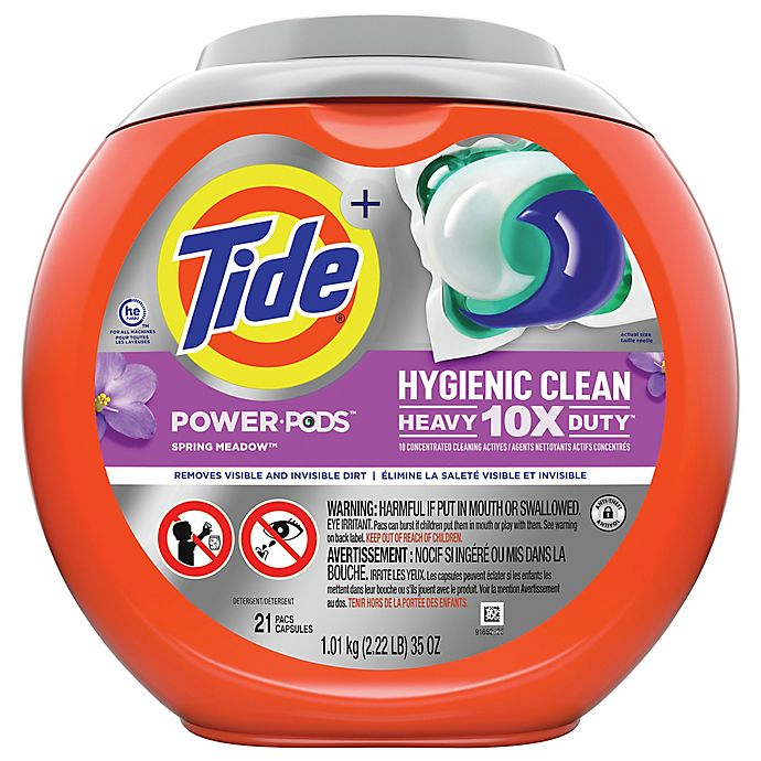 Alternate image 1 for Tide® 21-Count Hygienic Clean Heavy Duty Detergent Power Pods in Spring Meadow