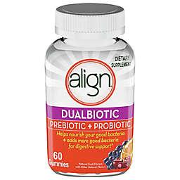 Align® Dualbiotic Prebiotic + Probiotic 60-Count Dietary Supplement Gummies