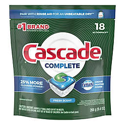 Cascade 18-Count  Fresh Scent Dishwasher Detergent Complete Action Pacs