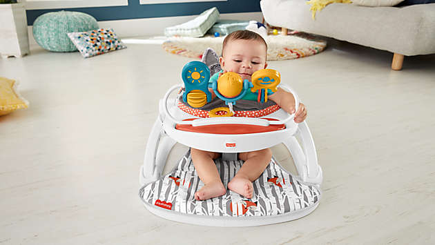 Gives baby support as they learn to sit up on their own.