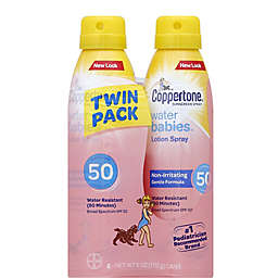 Coppertone® Water Babies® 6 oz. 2-Pack Lotion Spray SPF 50
