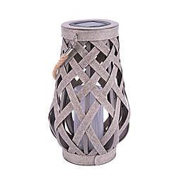 Bee & Willow™ Solar Woven Lantern in Grey
