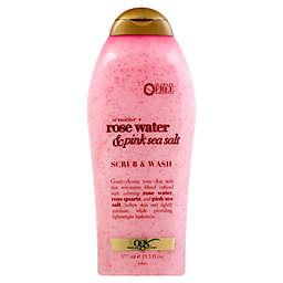OGX® Sensitive Rose Water and Pink Sea Salt 19.5 fl. oz. Scrub and Wash