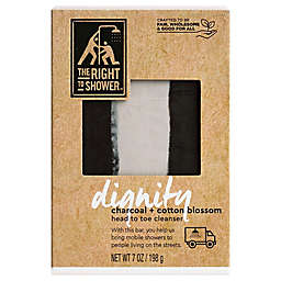 The Right To Shower 7 oz. Dignity Head To Toe Soap Bar in Charcoal and Cotton Blossom