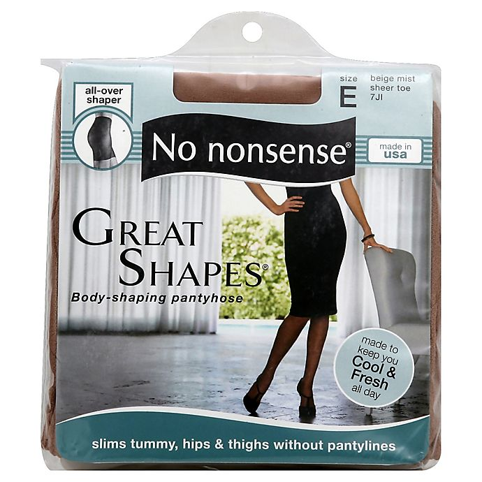 Alternate image 1 for No Nonsense® Great Shapes® Size E Body-Shaping Pantyhose in Beige Mist
