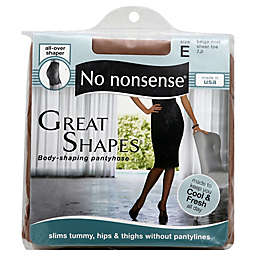 No Nonsense® Great Shapes® Size E Body-Shaping Pantyhose in Beige Mist