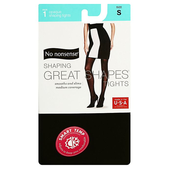 Alternate image 1 for No Nonsense® Small Shaping Great Shapes® Tights in Black