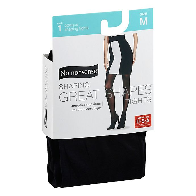 Alternate image 1 for No Nonsense® Medium Shaping Great Shapes® Tights in Opaque Medium Black