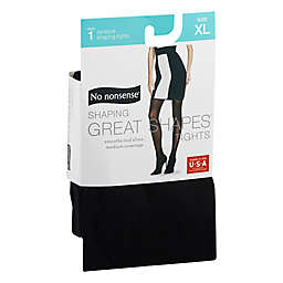 No Nonsense® X-Large Shaping Great Shapes® Tights in Opaque Medium Black