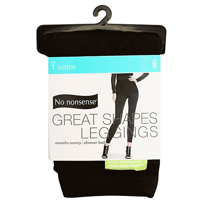 Alternate image 1 for No Nonsense® Small Great Shapes® Legging in Black