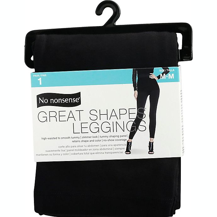 Alternate image 1 for No Nonsense® Medium Great Shapes® Legging in Black