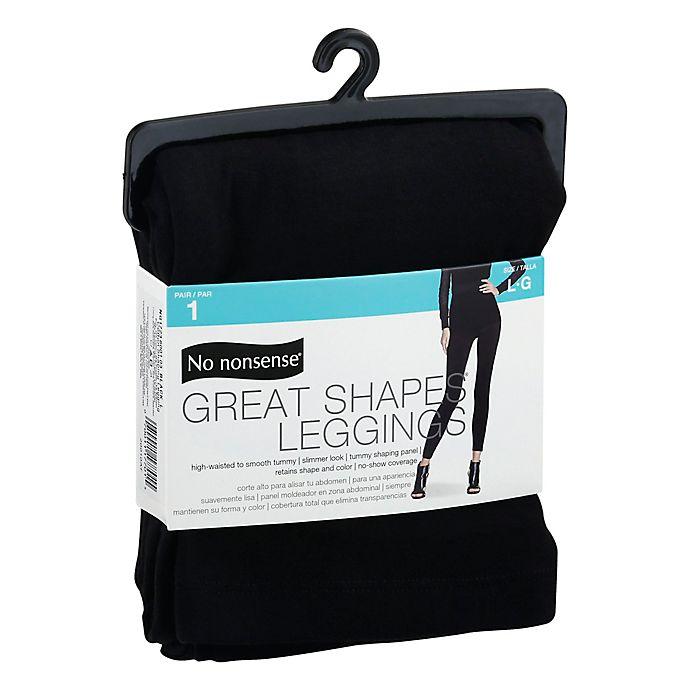 Alternate image 1 for No Nonsense® Large Great Shapes® Legging in Black