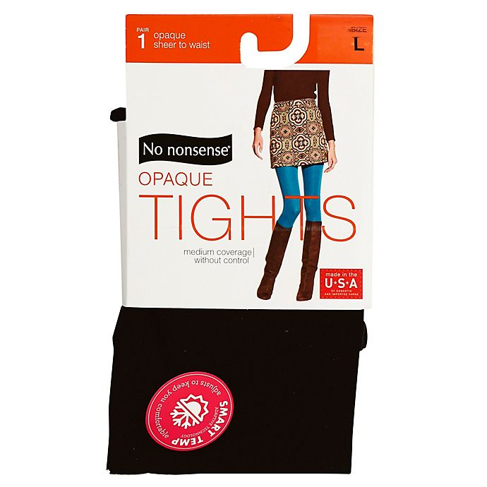 Alternate image 1 for No Nonsense® Large Opaque Tights in Black