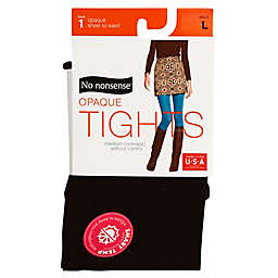 No Nonsense® Large Opaque Tights in Black