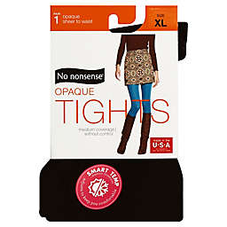 No Nonsense® X-Large Opaque Tights in Black