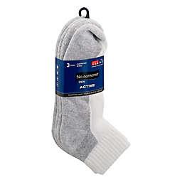 No Nonsense®  Size 6-12 Men's No Show Socks in White
