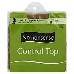 No Nonsense® Size B Control Top Reinforced Toe Pantyhose in Tan