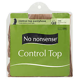 No Nonsense® Size Q2 Control Top Reinforced Toe Panythose in Tan