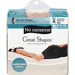 No Nonsense® Size A Great Shapes® All-Over Shaper Pantyhose in Beige Mist