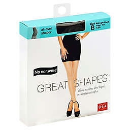 No Nonsense® Size B Great Shapes® All-Over Shaper Pantyhose in Midnight Black