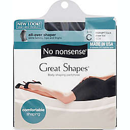 No Nonsense® Size C Great Shapes® All-Over Shaper Pantyhose in Midnight Black