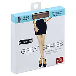 No Nonsense® Size D Great Shapes® All-Over Shaper Pantyhose in Beige Mist