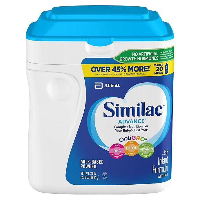 Alternate image 1 for Similac® Advance® 34 oz. Value Size Infant Formula Powder