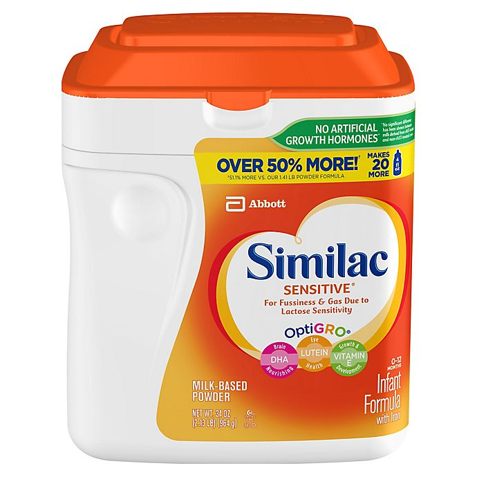 Alternate image 1 for Similac Sensitive® 34 oz. Infant Formula Powder