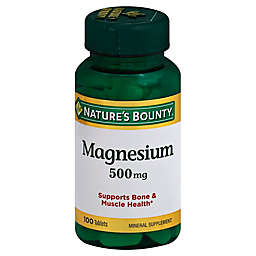 Nature's Bounty® 100-Count 500 mg Magnesium Tablets