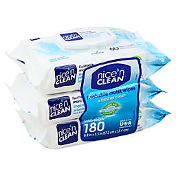 Nice 'N CLEAN® 180-Count Flushable Wipes