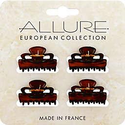 Allure 4-Pack Mini Jaw Clips in Tortoise