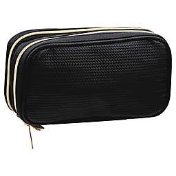 Modella® Double Zipper Organizer Clutch in Black