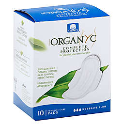 Organyc 10-Count Moderate Pads with Wings